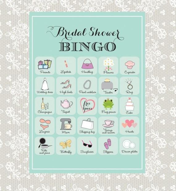Wedding Bingo: Printable Bridal Shower Bingo 40 Unique Game Cards In