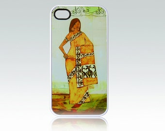 Indian woman iPhone 4 case, iPhone 4s case, Ethnic iPhone 4 cover, iPhone 4s cover, art iPhone 4, unique