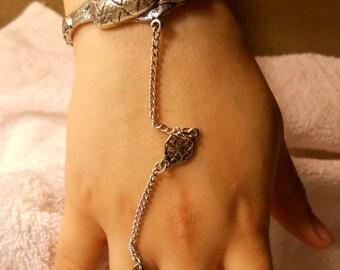 25% OFF Sale!! SNAKE Pewter Slave Bracelet