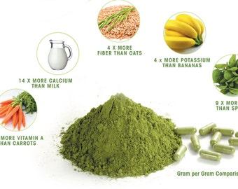 Moringa Leaf Powder, 7oz  Organic Moringa Oleifera Leaf Powder