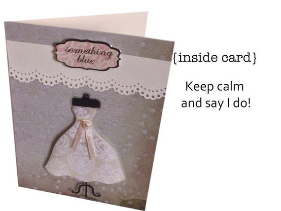 Wedding Card Say Yes To The Dress Card // Engagement Card