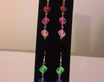 Hanging Dice Earrings