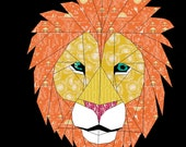 Lion- A 24 Inch Paper Pieced Pattern