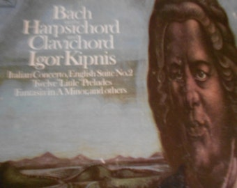 Igor Kipnis- Bach on The Harpsichord and Clavichord- vinyl record