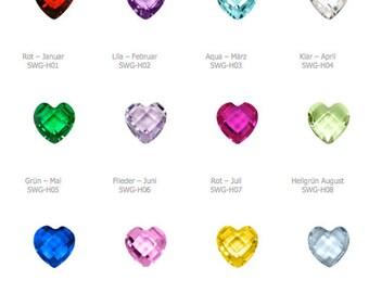 Soulwindow birthstone Crystal heart