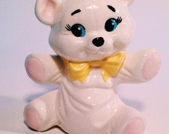 Kitschy ceramic bear figurine/planter
