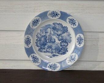 Vintage Rorstrand ,,Rosenberg,, Blue White Plate, Collectible Plate, Swedish Porcelain, Scandinavian Design @88