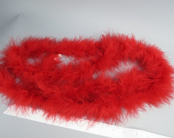Two Yards Red Marabou Boa Feathers Marabou