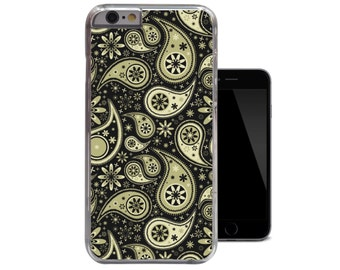 Green Paisley Floral iPhone Case Fits - iPhone 4 4s 5 5s 5c 6  (A182)