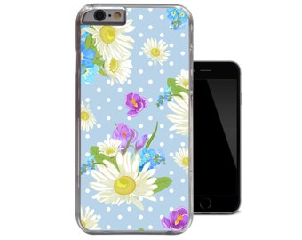 Shabby Chic iPhone 6 Case Daisy Polkadot iPhone 5 5s Case Floral Blue iPhone 5c Flower Flowers Vintage iPhone 4 4s Case (A219)