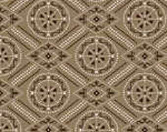 1 yard cut, diamond bandana print fabric