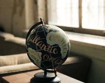 Hand Painted Wanderlust Globe