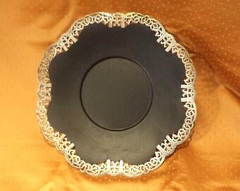Unique Art Nouveau Silver Plate Tray made into Chalk Board or Blackboard