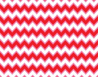 Red, pink and white chevron craft  vinyl sheet - HTV or Adhesive Vinyl -  zig zag pattern Valentine's Day HTV181