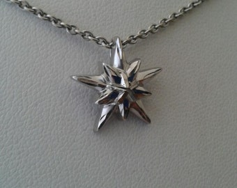 Star 14K White Gold Necklace