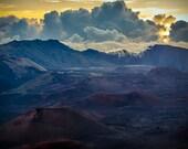Haleakala Maui Hawaii Sunrise Photographic Landscape Print Explosion Behind 8x10