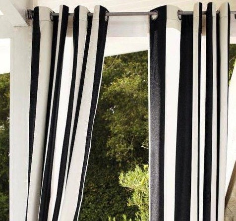 Black And White Trellis Curtains Vertical Striped Shower Curtains