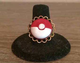 Pokeball Cameo Ring