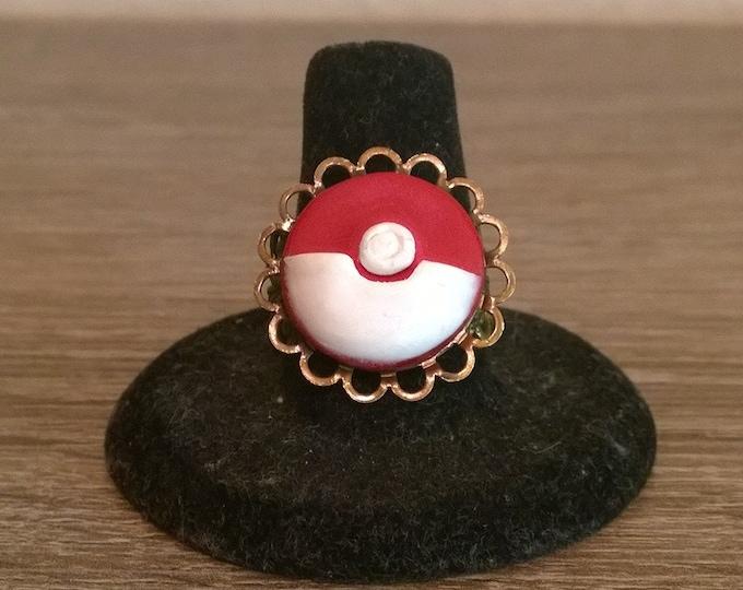 Pokeball Cameo Ring