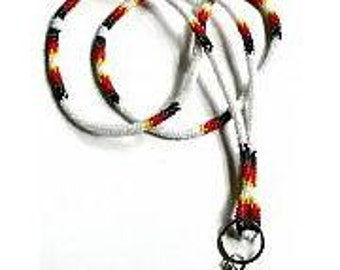 Wrapped Beaded native american lanyard necklace.