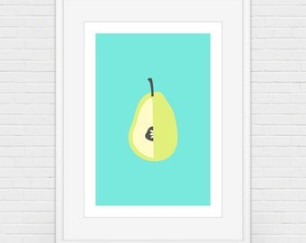Partly Pitted Pear