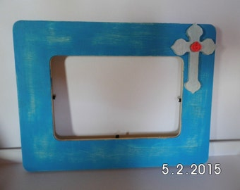Wooden Picture frame with Cross