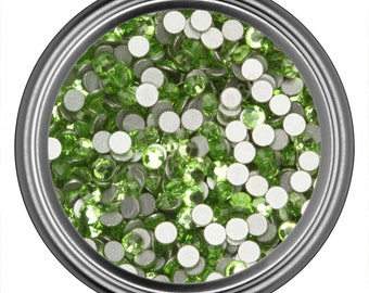 Peridot Green Glass Crystal Swarovski Round Rhinestone 2MM 3MM 4MM 5MM