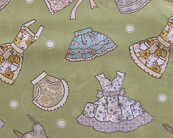 Fabric with Vintage Look Aprons by Fabric Traditions | cotton fabric by the yard | fabric for women |  quilting fabric | apron fabric