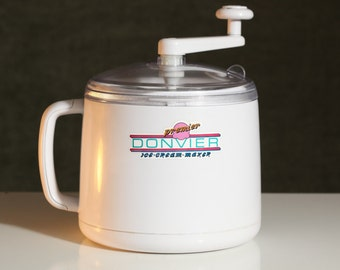 Vintage 1 Quart DONVIER Premium Homemade  ICE CREAM Sherbet Maker No Ice Salt or Electricity!