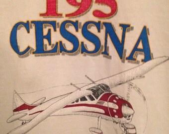1980s Vintage T shirt 195 Cessna Short Sleeve Adult