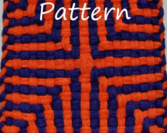 Pattern Instructions for Cross-and-Squares Potholder