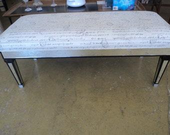mid century modern mirrored bench signed Maison Jansen 50% off