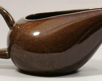 Black Chutney Creamer - Russel Wright - American Modern by Steubenville - Vintage