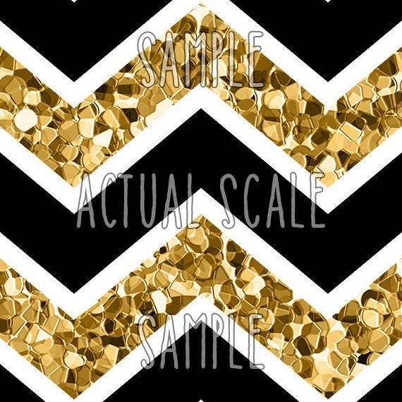 White Black And Gold Glitter Chevron Backgrounds