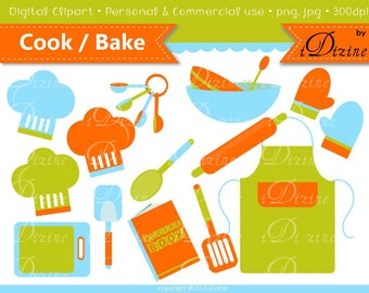 SALE! Cooking / Baking Clipart (Personal & Small Business Use)