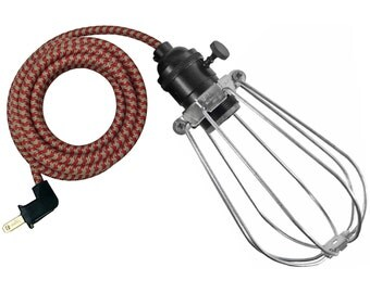 McGILL CAGE LAMP w/ black-brass socket