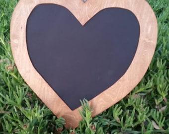 Rustic chalkboard.  Heart chalkboard.  Wedding chalkboard.