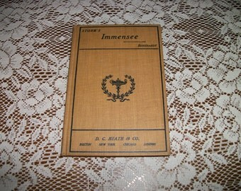 Rare EDWARDIAN STEAMPUNK 1903 Small GERMAN Poetry Book, Immensee By Theodor Storm d..c.. Heath & Co.