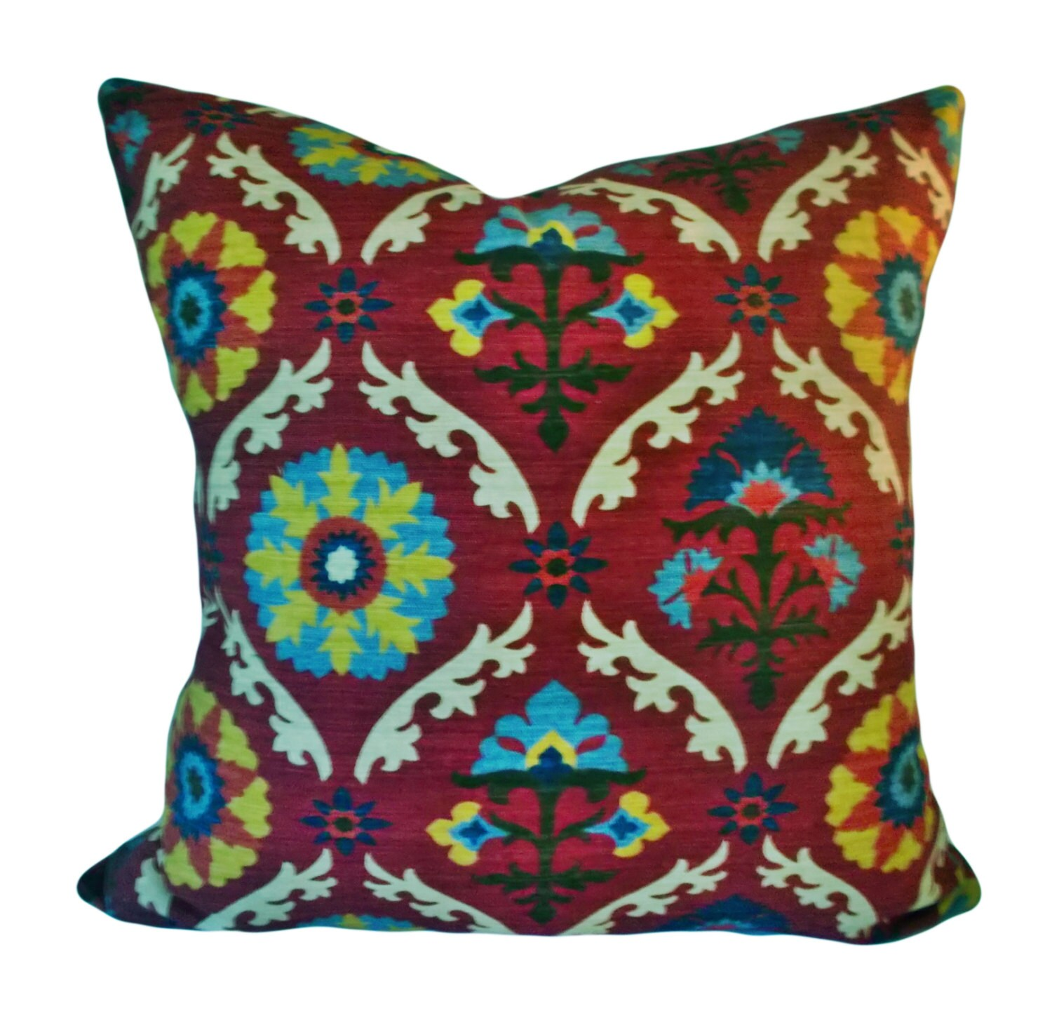 Waverly Suzani Mayan Decorative Pillow Cover by PillowTimeGirls