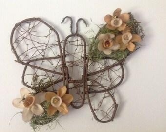 Grapevine Butterfly Wreath