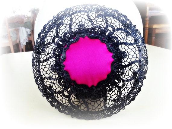 Ornate Black Pin Cushion Frame: Ready to Ship. Handmade for Hijab pins, stick pins, hat pins. Jewellery Display. Pin Cushion