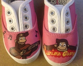 Curious George inspired girls shoes