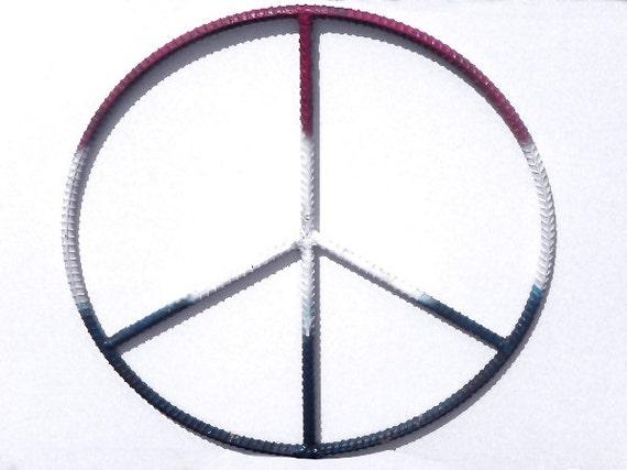 Peace Sign Wall Decor Metal : Items similar to rebar art inch peace sign metal wall