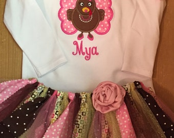 Girly Turkey Thanksgiving Tutu Outfit