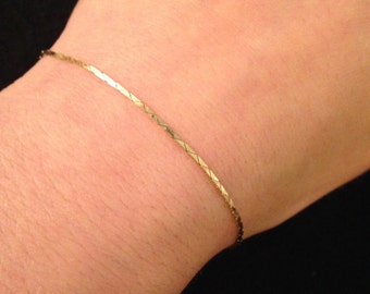 Vintage 14K Yellow Gold Dainty Chain Bracelet - 1.4 grams