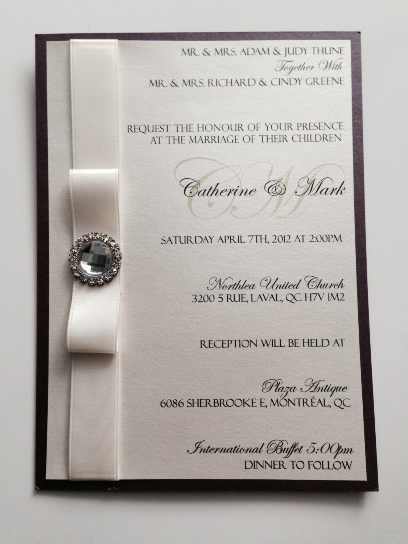 wedding invitations elegant wedding invitations classic wedding invitations bridal shower invitations crystal - Elegant Wedding Invitations With Crystals