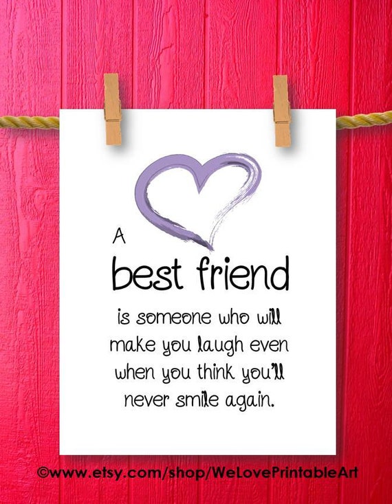 Quotes About Best Friends Gift : Items similar to friendship gifts for best friends gift