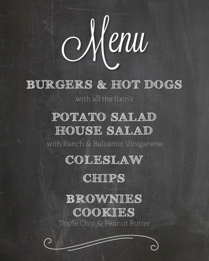 Wedding menu poster   Etsy