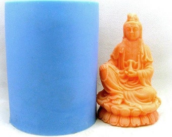 3D Avalokitesvara Candle Mold Soap Mold Mould Silicone Mold DIY Handmade