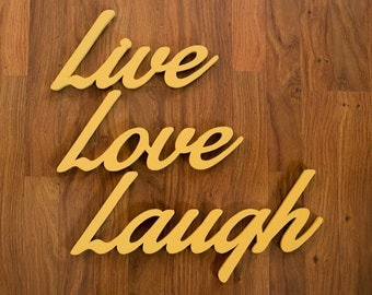 Handcrafted Live Love Laugh Word Art